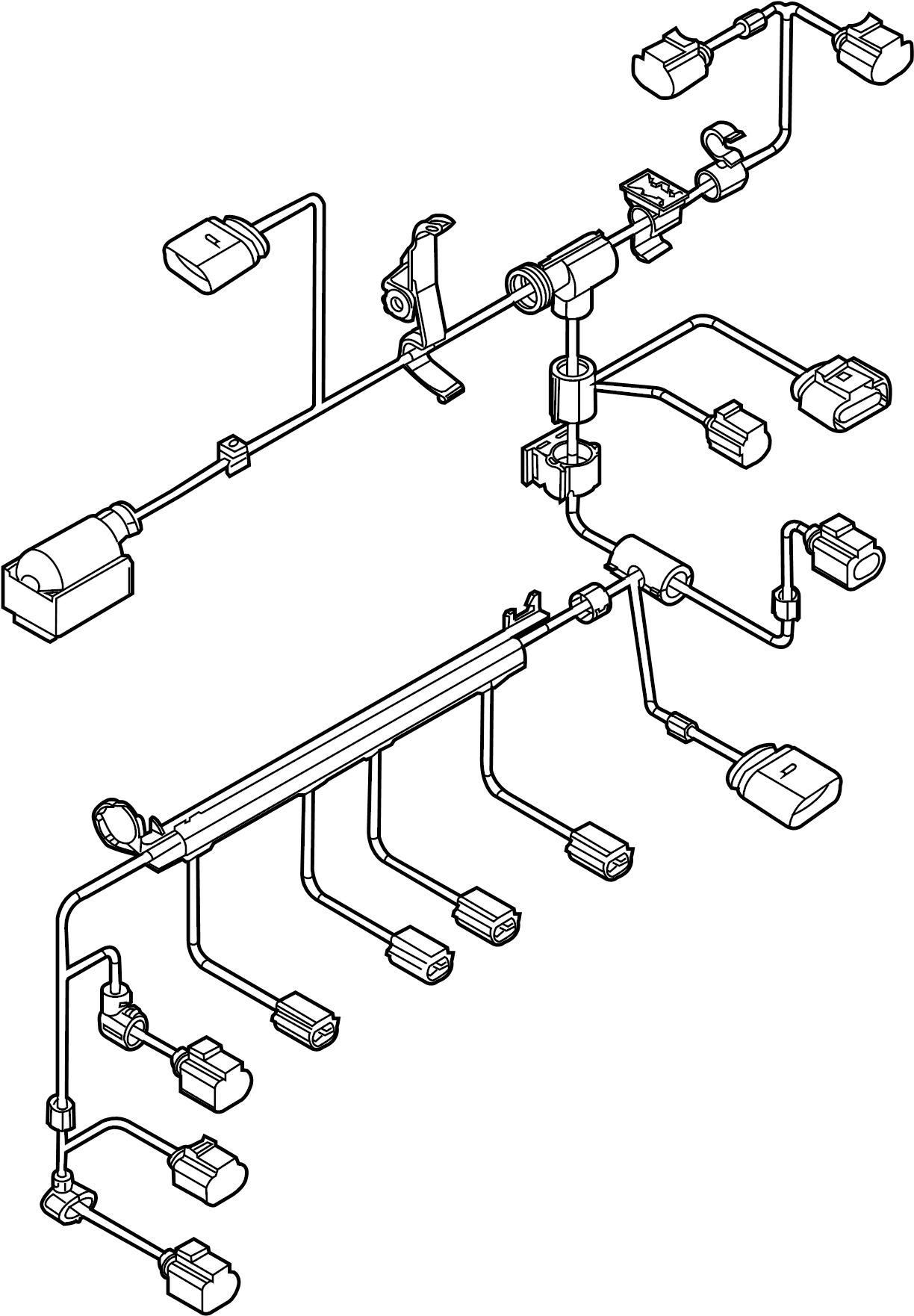 volkswagen jetta engine harness  engine wiring harness  2 0 liter gas  w  o turbocharger  2