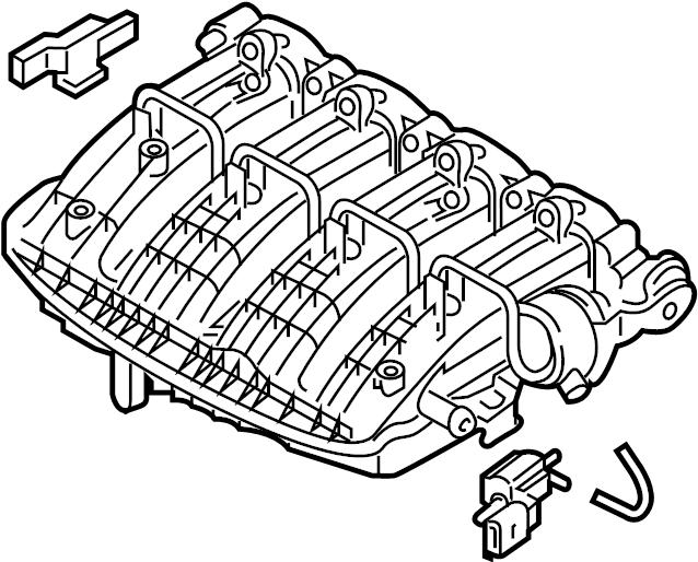 2014 volkswagen passat engine intake manifold  engine
