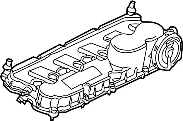 07k103469l - engine valve cover  2 5 liter  includes  valve cover gasket