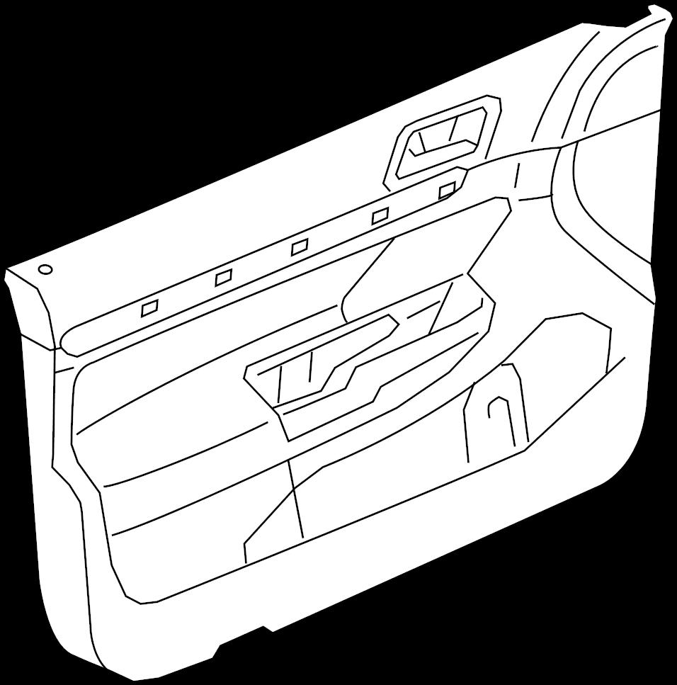 2012 volkswagen jetta door interior trim panel  door trim