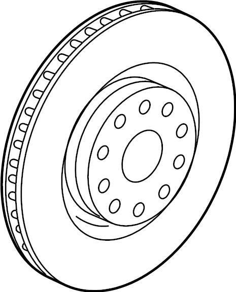 5q0615301h - disc brake rotor