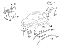 Diagram RESTRAINT SYSTEMS. AIR BAG COMPONENTS. w/head air bag. 4 spoke wheel. front. w/o head air bag. for your 1999 Volkswagen Golf TDI 1.9L DIESEL M/T