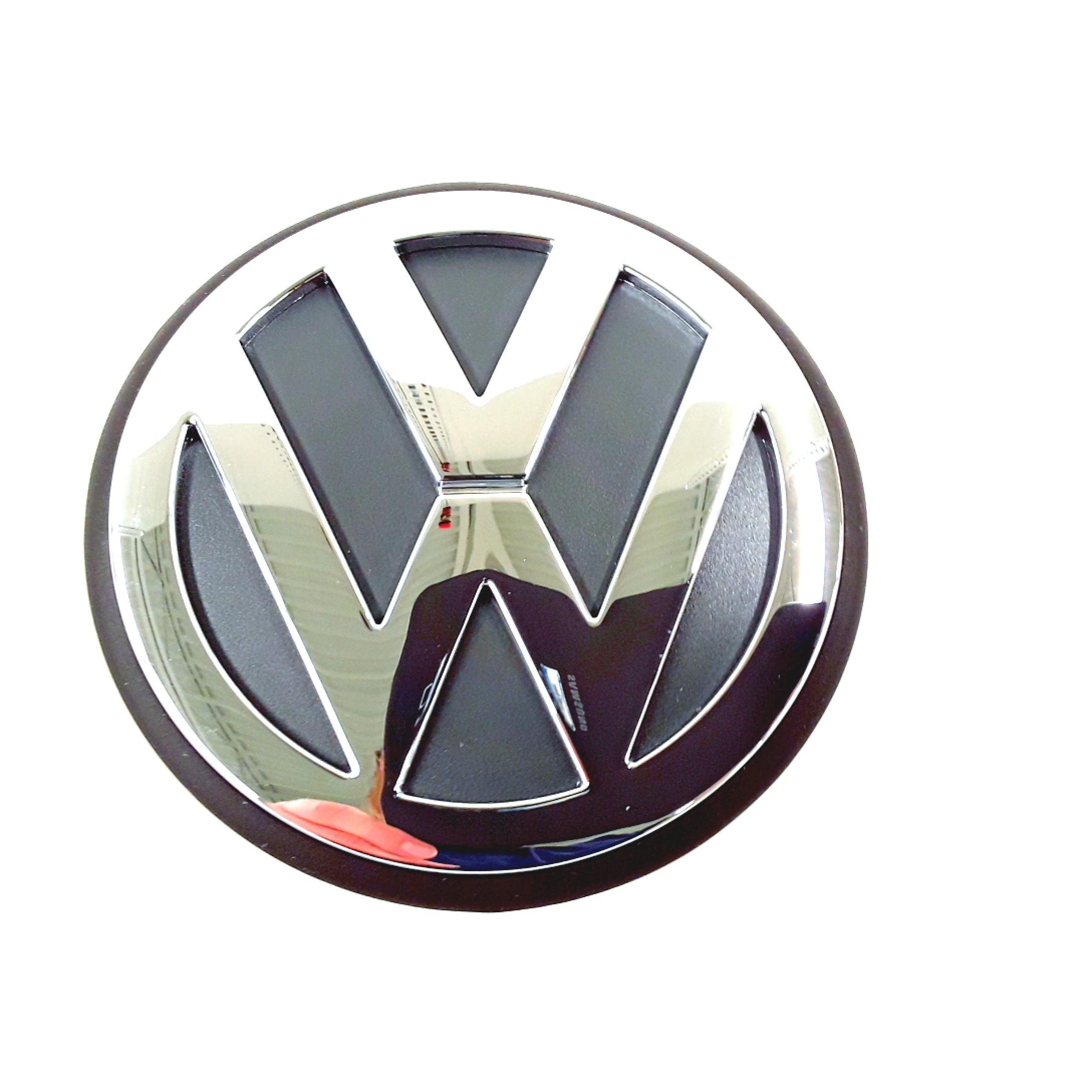 volkswagen beetle hood emblem ornament vw sign chrome 1c0853601wm7 genuine volkswagen part. Black Bedroom Furniture Sets. Home Design Ideas